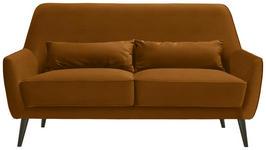 DREISITZER-SOFA in Textil Gelb  - Gelb/Schwarz, Trend, Holz/Textil (160/86/80cm) - Carryhome