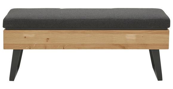 SITZBANK 118/49/41 cm - Eichefarben/Anthrazit, Natur, Holz/Textil (118/49/41cm) - Valnatura