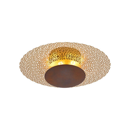 LED-DECKENLEUCHTE - Rostfarben, LIFESTYLE, Metall (45/45/16cm)