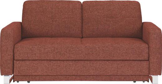 SCHLAFSOFA Webstoff Rot - Chromfarben/Rot, MODERN, Textil/Metall (179/88/85cm) - VENDA
