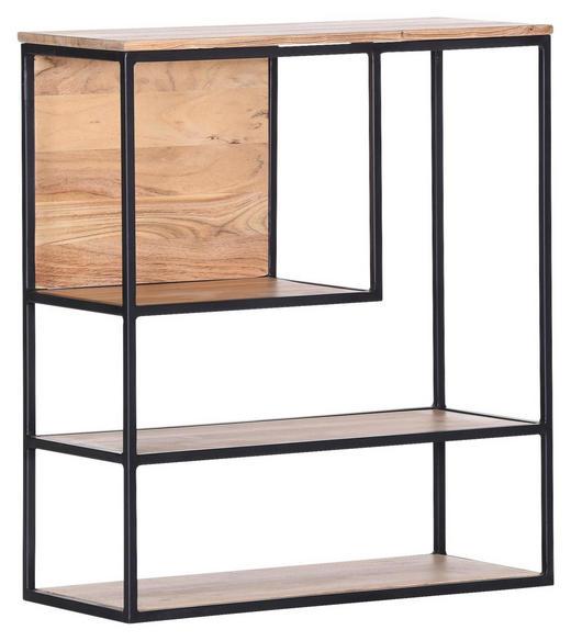 WANDREGAL - Schwarz/Naturfarben, Trend, Holz/Metall (70/80/30cm) - Carryhome