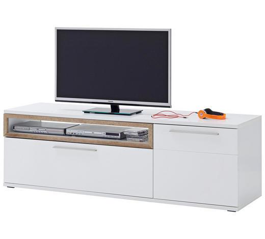 TV-ELEMENT 180/57/50 cm  - Eichefarben/Weiß, Design, Holzwerkstoff/Metall (180/57/50cm) - Novel