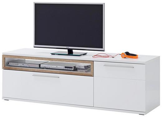 TV-ELEMENT Eichefarben, Weiß - Eichefarben/Weiß, Design, Metall (180/57/50cm) - Novel