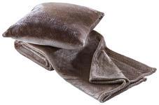 KUSCHELSET 150/200 cm Taupe  - Taupe, LIFESTYLE, Textil (150/200cm) - Novel
