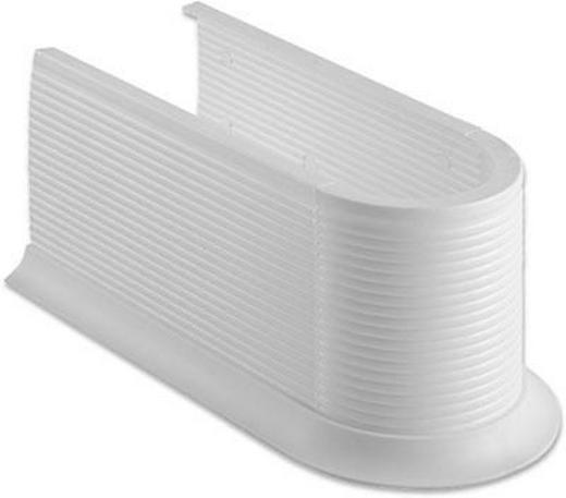 SIPHONABDECKUNG - Weiß, KONVENTIONELL, Kunststoff (13,2/11,5/26,5cm) - Xora