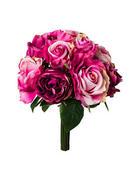 DEKOSTRAUß Rose  - Lila/Grün, Trend, Kunststoff (36cm)