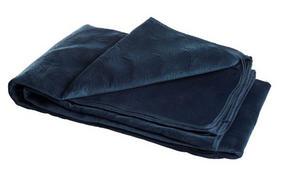 SÄNGÖVERKAST - mörkblå, Design, textil (180/270cm)