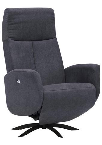 RELAXAČNÍ KŘESLO - černá/antracitová, Moderní, kov/textilie (70/110/81cm) - Welnova