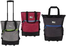 EINKAUFSTROLLEY - Blau/Pink, Basics, Textil/Metall (36/50/20cm) - BOXXX