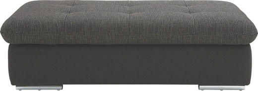 HOCKER Braun, Graphitfarben - Chromfarben/Graphitfarben, Design, Textil (130/42/63cm) - Beldomo Style