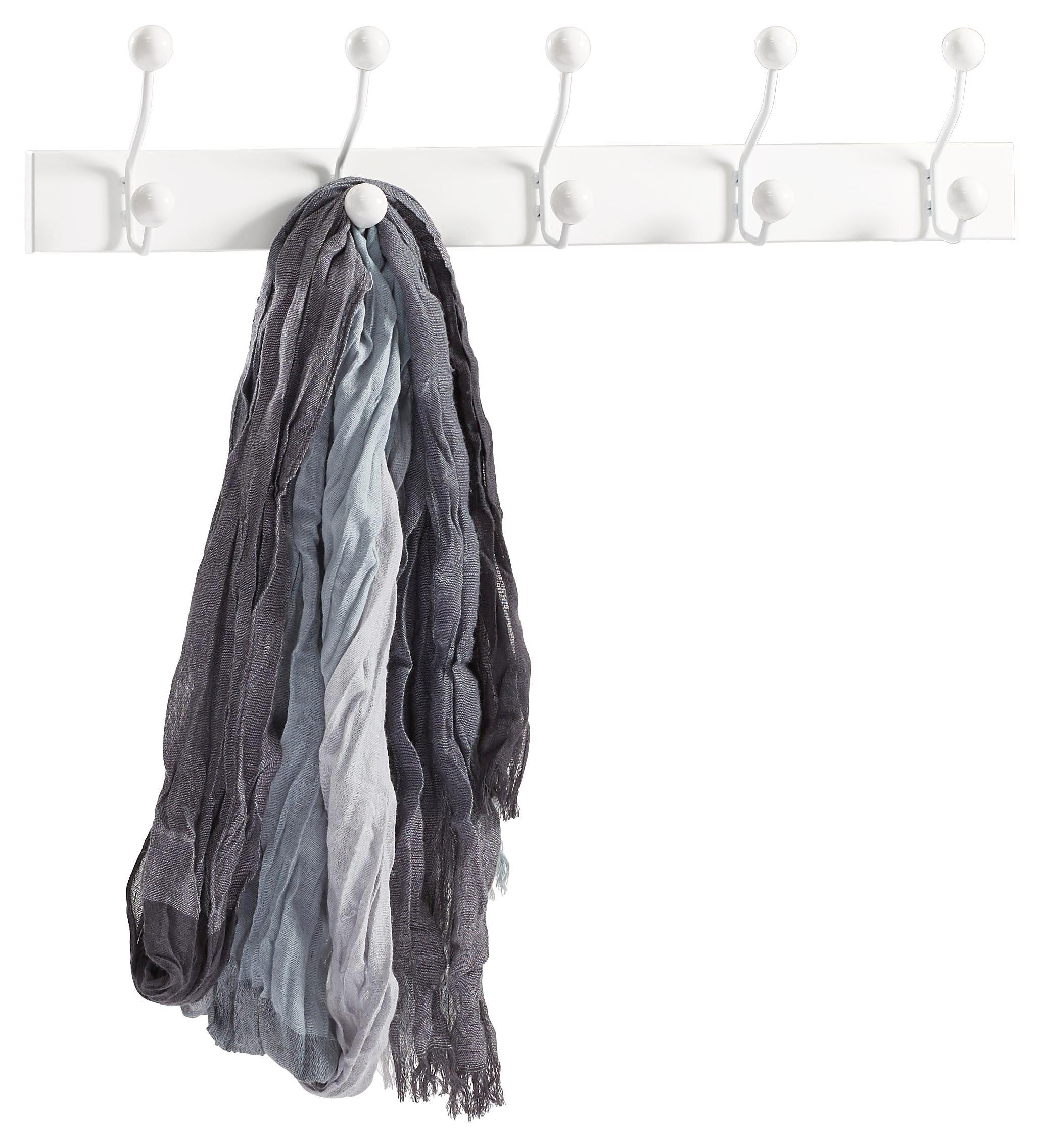 VJEŠALICA ZIDNA - bijela, Design, drvni materijal/metal (65/13/7cm) - LESNINA-XXXL