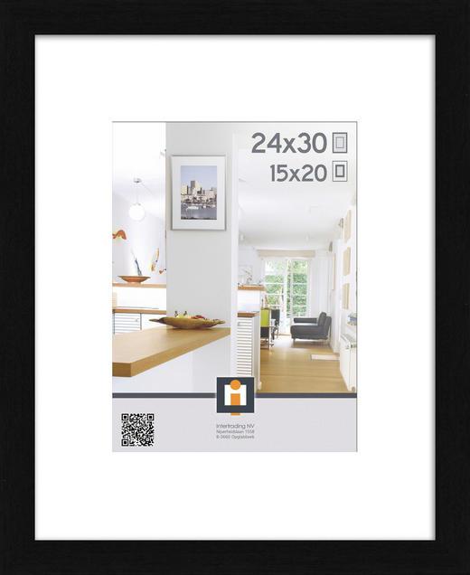 BILDERRAHMEN in Schwarz - Schwarz, Basics, Glas/Kunststoff (24/30cm)