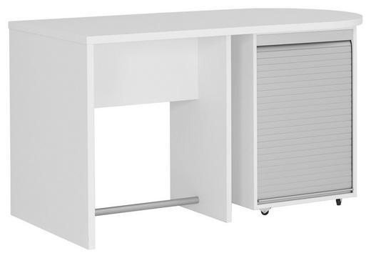SCHREIBTISCH Alufarben, Weiß - Alufarben/Weiß, Design, Holzwerkstoff/Kunststoff (140/76/70cm) - Xora