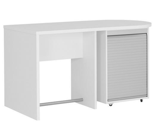 SCHREIBTISCH - Alufarben/Weiß, Design, Holzwerkstoff/Kunststoff (140/76/70cm) - Xora