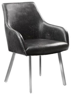 KARMSTOL - vit/svart, Design, metall/textil (64/85/65cm) - Novel