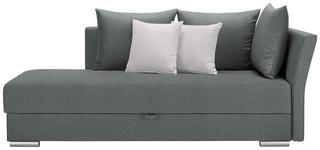 LIEGE in Textil Grau - Chromfarben/Weiß, Design, Kunststoff/Textil (220/93/100cm) - Xora