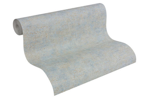 VLIESTAPETE 10,05 m - Blau/Silberfarben, Design, Textil (53/1005cm)