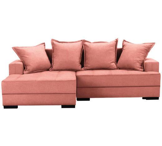 WOHNLANDSCHAFT in Textil Rot, Hellrot  - Hellrot/Rot, KONVENTIONELL, Holz/Textil (148/238cm) - Carryhome