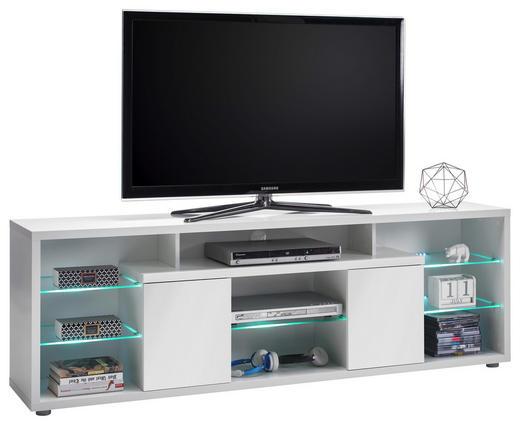 TV-ELEMENT Weiß - Weiß/Grau, Design, Glas/Holzwerkstoff (180/60/37cm) - Carryhome