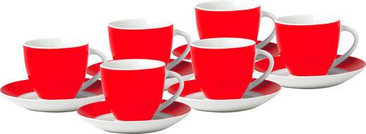 UNTERTASSENSET - Rot/Weiß, Basics, Keramik (15,5/6,5/15,5cm)