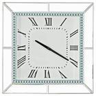 HODINY NÁSTĚNNÉ - barvy stříbra, Design, dřevěný materiál/sklo (40,5/40,5/5cm) - Xora