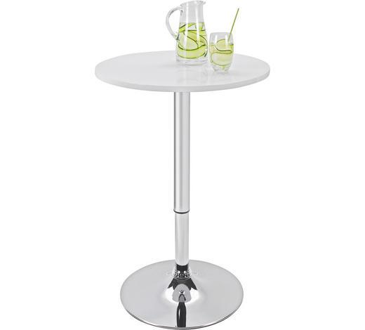 BARSKI STOL - bijela/boje kroma, Design, drvni materijal/metal (60/85-105cm) - Xora