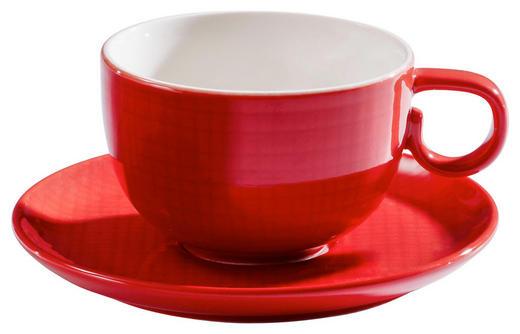 KAFFEETASSE MIT UNTERTASSE - Rot, Design, Keramik (0,2l) - ASA