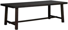 MATBORD - mörkbrun, Klassisk, trä (220/95/76cm) - Rowico