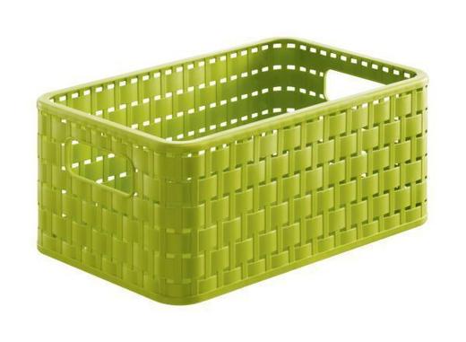 KORB - Grün, Basics, Kunststoff (36.8/27.8/19.1cm)