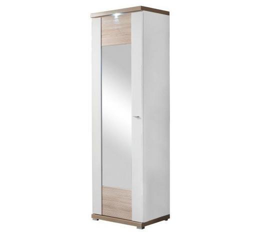 GARDEROBENSCHRANK 65/206,6/41,6 cm  - Chromfarben/Eichefarben, Design, Holzwerkstoff/Metall (65/206,6/41,6cm) - Xora