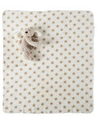 Schmusedecke 90/75 cm - Taupe/Weiß, Basics, Textil (90/75cm) - My Baby Lou