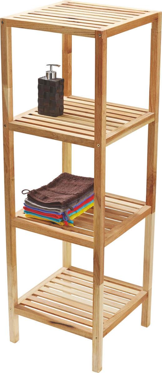BADEZIMMERREGAL Holz Walnuss massiv Nussbaumfarben - Nussbaumfarben, MODERN, Holz (36/112/36cm)