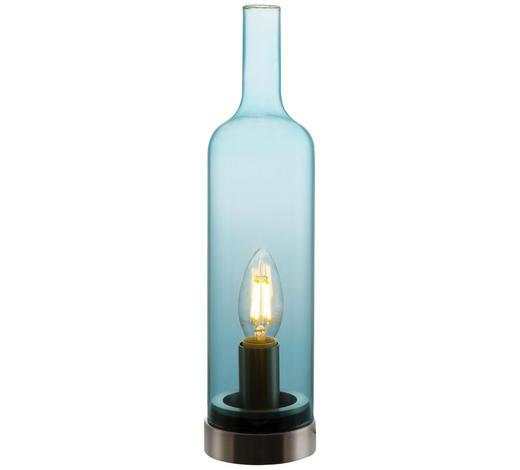 TISCHLEUCHTE - Blau, Trend, Glas/Metall (8,5/33cm) - Boxxx