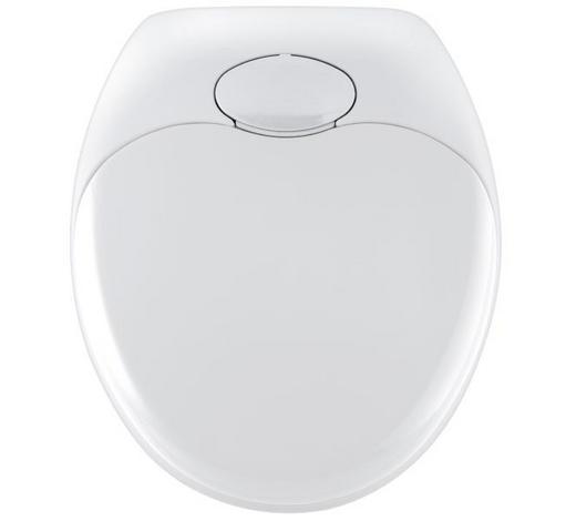 WC-SITZ Weiß  - Weiß, Basics, Kunststoff (37,5/44cm)