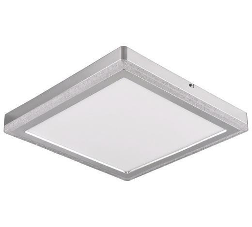 LED-PANEEL   - Silberfarben/Weiß, Basics, Kunststoff/Metall (40/40/4,5cm) - Novel