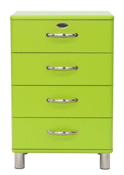KOMMODE Grün - Grün/Nickelfarben, Design, Metall (60/92/41cm) - CARRYHOME