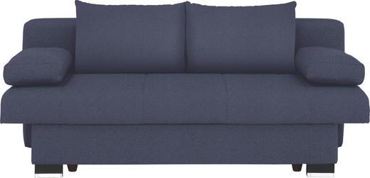 SCHLAFSOFA Blau - Blau/Wengefarben, KONVENTIONELL, Holz/Textil (200/80/104cm) - NOVEL