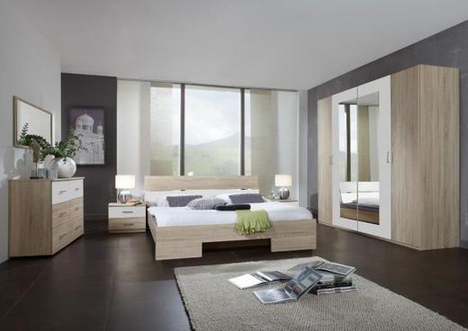 SKŘÍŇ ŠATNÍ, barvy dubu, bílá - bílá/barvy dubu, Design, dřevěný materiál/umělá hmota (225/210/65cm) - Carryhome