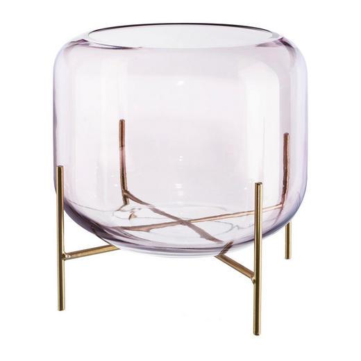 DEKOGLAS - Rosa, Design, Glas/Metall (15/12cm)