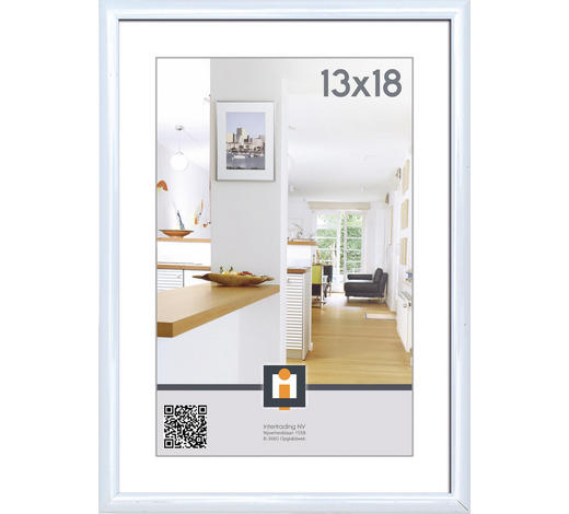 RÁM NA OBRAZY - bílá, Basics, umělá hmota/sklo (14/19cm)