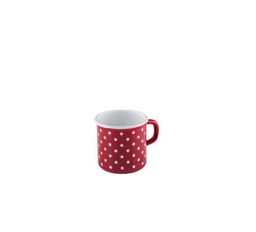 MILCHTOPF 3/8 L - Rot/Weiß, LIFESTYLE, Metall (11,10/8,80/8,40cm) - Riess
