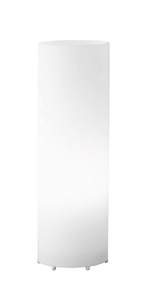 TISCHLEUCHTE - Weiß, KONVENTIONELL, Glas/Metall (10/30cm)