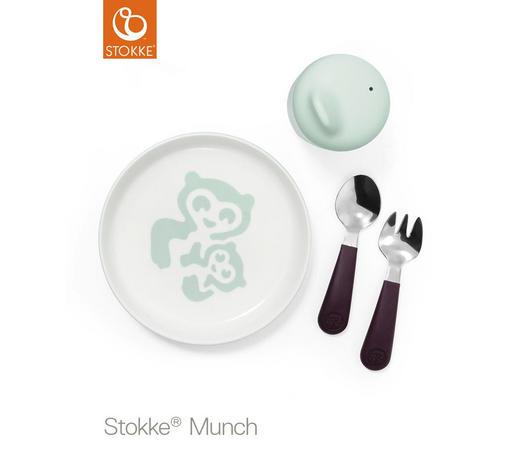 ESSSET - Weiß/Mintgrün, KONVENTIONELL, Kunststoff (28/28/7cm) - Stokke