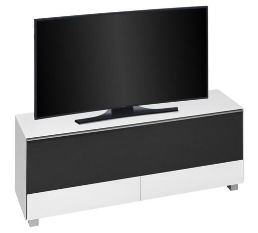 TV-ELEMENT 160/60/42 cm - Alufarben/Schwarz, KONVENTIONELL, Glas/Holzwerkstoff (160/60/42cm)