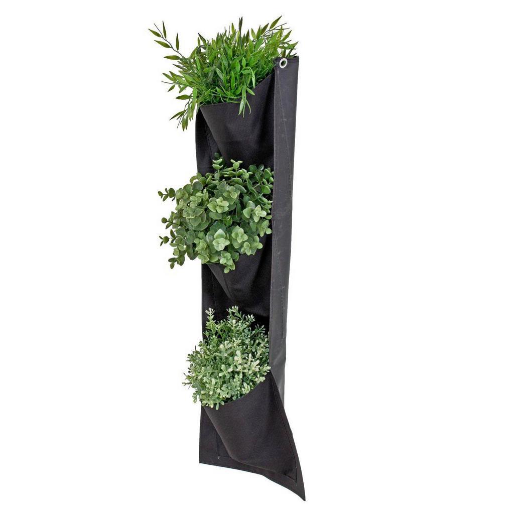 Wand-Pflanzbeutel mit 3 Taschen aus Nylon