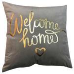 Zierkissen Welcome Home - Grau, MODERN, Textil (45/45cm) - Luca Bessoni
