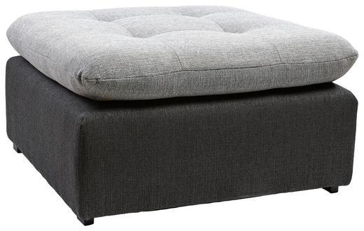 HOCKER Webstoff Anthrazit, Grau - Anthrazit/Schwarz, Design, Kunststoff/Textil (73/40/73cm) - Carryhome