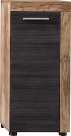 UNTERSCHRANK Dunkelbraun - Dunkelbraun/Silberfarben, Design, Holzwerkstoff/Kunststoff (36/81/31cm) - Xora