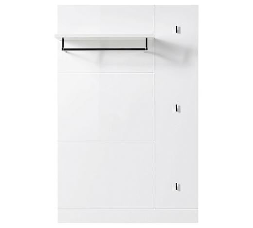 GARDEROBENPANEEL 80/125/28 cm  - Edelstahlfarben/Weiß, Design, Holzwerkstoff/Metall (80/125/28cm) - Carryhome