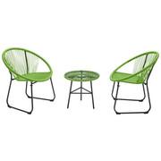 BALKONSET  3-teilig - Grün, Design, Glas/Kunststoff (75/50/84/50/61/50cm)